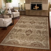 Charlton Home Austintown Meshed Beige Area Rug