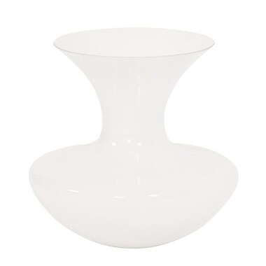 Darby Home Co Trumpet White Flared Glass Table Vase