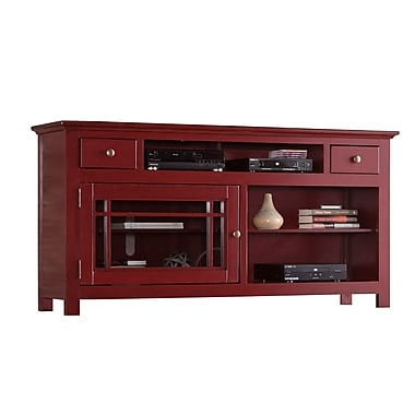 Darby Home Co Julee 64'' TV Stand; Red