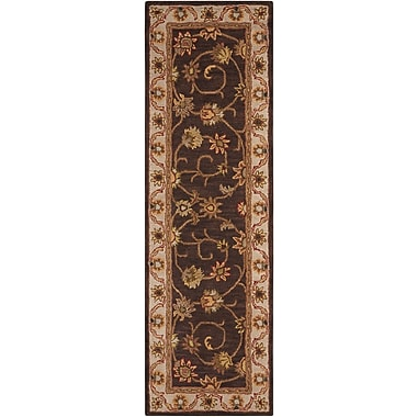 Darby Home Co Astin Hand-Tufted Chocolate Area Rug; Rectangle 2'3'' x 7'6''
