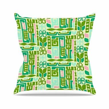 East Urban Home Maze Amy Reber Vector Throw Pillow; 18'' H x 18'' W x 4'' D