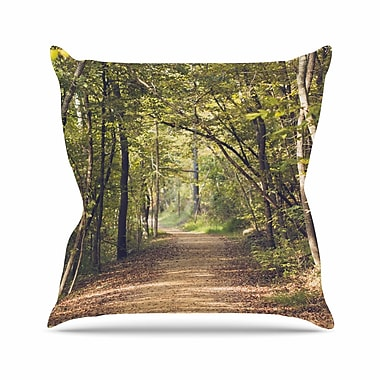 East Urban Home Forest Light Ann Barnes Photography Trees Throw Pillow; 16'' H x 16'' W x 4'' D