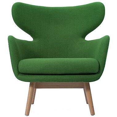 Corrigan Studio Aaden Barrel Chair; Forest Green