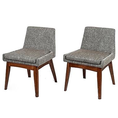 Corrigan Studio Perla Side Chair (Set of 2); Gray