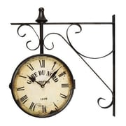 Darby Home Co ''Gard Du Nord Station'' Vintage-Inspired Round Wall Clock