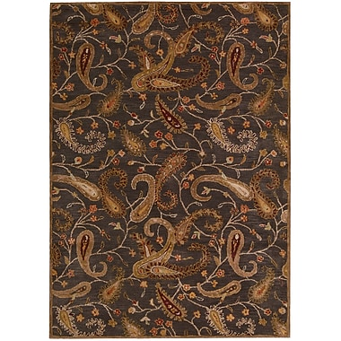 Darby Home Co Broomhedge Charcoal Area Rug; 8' x 11'