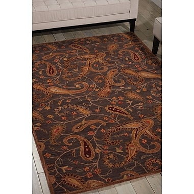 Darby Home Co Broomhedge Hand-Tufted Charcoal Area Rug