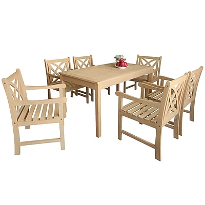 Darby Home Co Baskerville Outdoor 7 Piece Dining Set