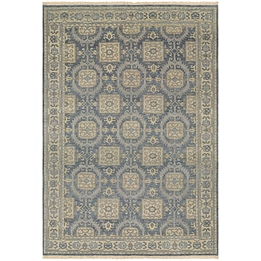 Darby Home Co Brian Hand-Knotted Blue/Beige Area Rug; 5'6'' x 8'9''