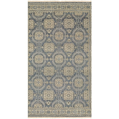 Darby Home Co Brian Hand-Knotted Blue/Beige Area Rug; Runner 2'3'' x 8'3''