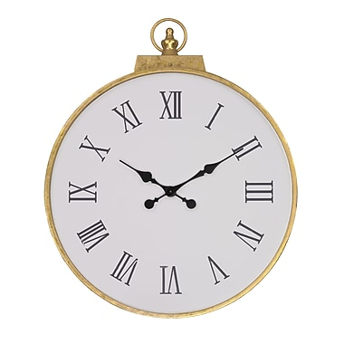 Darby Home Co Ald Round Metal Wall Clock