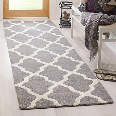 Darby Home Co Parker Lane Hand-Tufted Gray/Ivory Area Rug; Square 6' x 6'