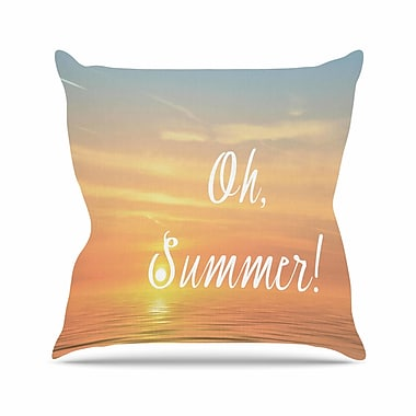 East Urban Home Oh, Summer! Alison Coxon Throw Pillow; 18'' H x 18'' W x 4'' D