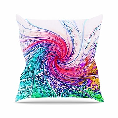 East Urban Home Wave Alison Coxon Throw Pillow; 20'' H x 20'' W x 4'' D