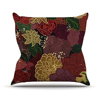 East Urban Home Flowers Jaidyn Erickson Throw Pillow; 18'' H x 18'' W x 4'' D