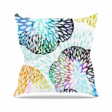 East Urban Home Tropical Flora Jessica Wilde Pastel Abstract Throw Pillow; 16'' H x 16'' W x 4'' D