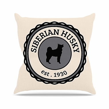East Urban Home Husky Dog Throw Pillow; 20'' H x 20'' W x 4'' D