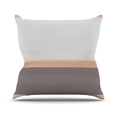 East Urban Home Spring Swatch Throw Pillow; Gray