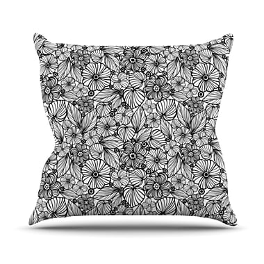 East Urban Home Candy Flowers Julia Grifol Throw Pillow; 16'' H x 16'' W x 4'' D