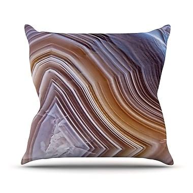 East Urban Home Pale Layered Agate Throw Pillow; 26'' H x 26'' W x 4'' D