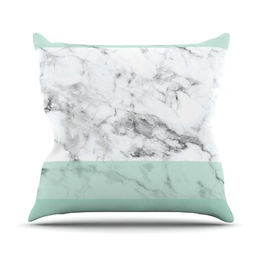 East Urban Home Marble Fade Throw Pillow; 20'' H x 20'' W x 4'' D