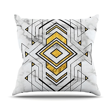 East Urban Home Geo Marble Graphic Throw Pillow; 20'' H x 20'' W x 4'' D