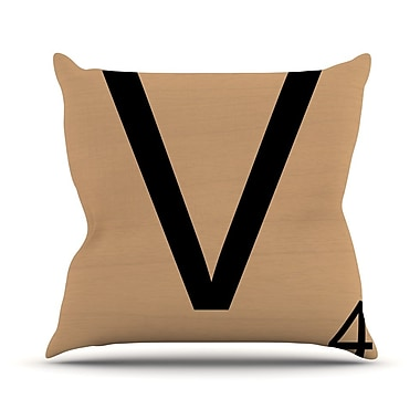East Urban Home Love Letters Throw Pillow; 16'' H x 16'' W x 4'' D
