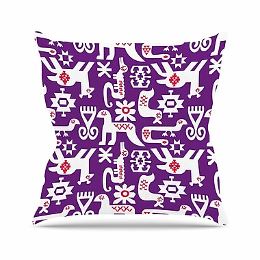 East Urban Home The Tribe Agnes Schugardt Throw Pillow; 16'' H x 16'' W x 4'' D