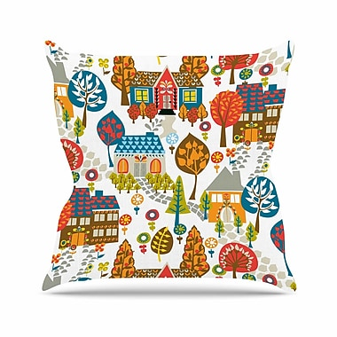 East Urban Home In the Village Agnes Schugardt Throw Pillow; 16'' H x 16'' W x 4'' D