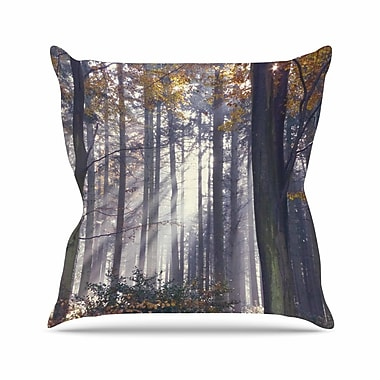 East Urban Home Autumn Sunbeams Alison Coxon Trees Photography Throw Pillow; 26'' H x 26'' W x 4'' D