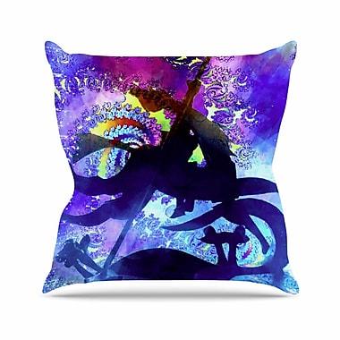 East Urban Home Midnight Horse AlyZen Moonshadow Throw Pillow; 20'' H x 20'' W x 4'' D