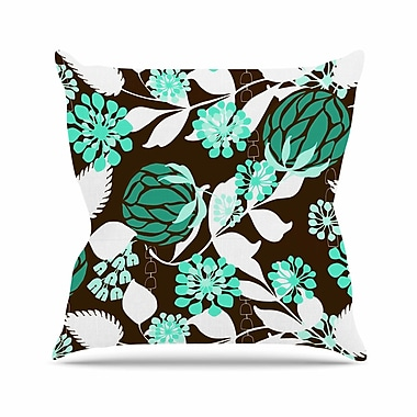 East Urban Home Bold Relief Amy Reber Throw Pillow; 16'' H x 16'' W x 4'' D