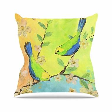 East Urban Home Song Birds Jacqueline Milton Throw Pillow