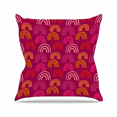 East Urban Home It's All Rainbow Jane Smith Throw Pillow