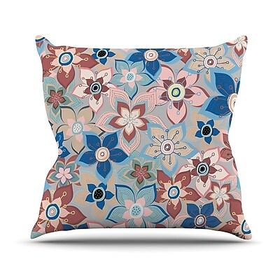 East Urban Home Marsala Floral Mix Jolene Heckman Throw Pillow