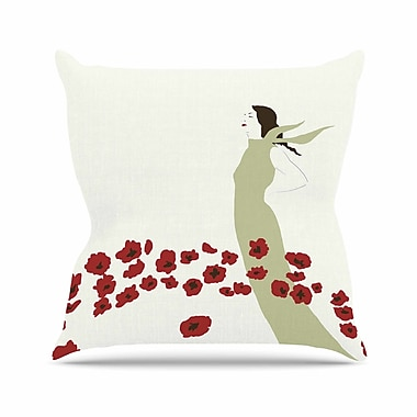 East Urban Home Poppy Field Mayacoa Studio Throw Pillow; 18'' H x 18'' W x 4'' D