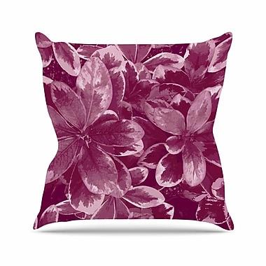 East Urban Home Warm Leaves Julia Grifol Throw Pillow; 20'' H x 20'' W x 4'' D