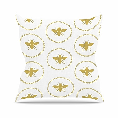 East Urban Home Busy as a Bee Jennifer Rizzo Throw Pillow; 20'' H x 20'' W x 4'' D