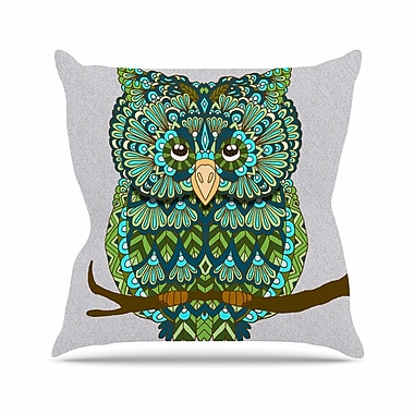 East Urban Home Great Owl Art Love Passion Throw Pillow