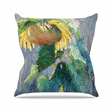 East Urban Home Lonely Sunflower Carol Schiff Throw Pillow; 26'' H x 26'' W x 4'' D