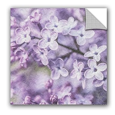 East Urban Home Petales Violets Wall Decal; 24'' H x 24'' W x 0.1'' D