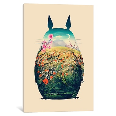 East Urban Home 'Tonari no Totoro' Graphic Art Print on Wrapped Canvas; 26'' H x 18'' W x 1.5'' D