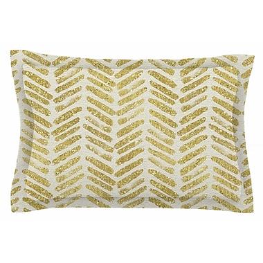 East Urban Home Golden Vision by 888 Design Pillow Sham; Queen