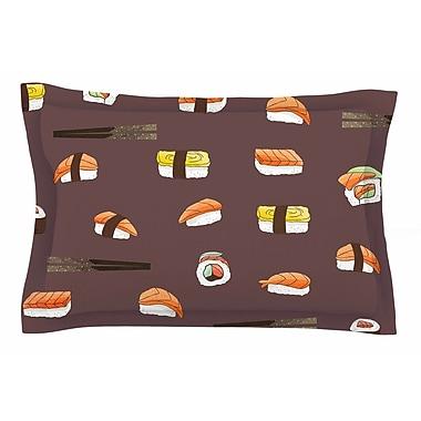 East Urban Home Sushi Pattern by Strawberringo Pillow Sham; Queen