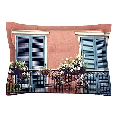 East Urban Home New Orleans Balcony by Sylvia Cook Pillow Sham; Queen