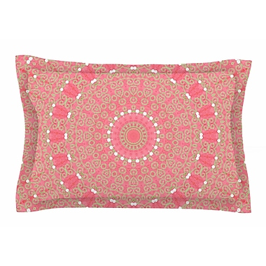 East Urban Home Boho Hearts Coral by Sylvia Cook Pillow Sham; Queen