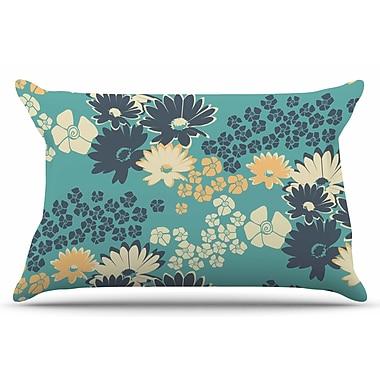 East Urban Home Teal Color Bouquet by Zara Martina Mansen Pillow Sham; King