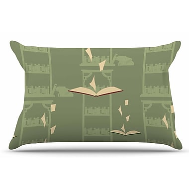 East Urban Home Library by Stephanie Vaeth Pillow Sham; King