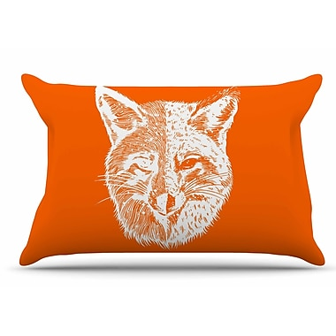 East Urban Home Foxface by BarmalisiRTB Pillow Sham; King