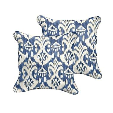 Fleur De Lis Living Jenifer Reagan II Indoor/Outdoor Throw Pillow (Set of 2); 22'' W x 22'' D